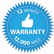 12 month 12,000 mile warranty
